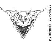 owl illustration | Shutterstock .eps vector #284000183