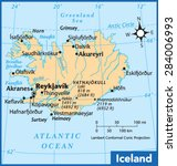 iceland country map | Shutterstock .eps vector #284006993