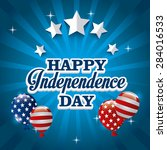 independence day design over... | Shutterstock .eps vector #284016533