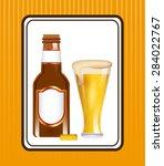 cold beer design  vector... | Shutterstock .eps vector #284022767