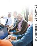 hipster technology teamwork...   Shutterstock . vector #284039423