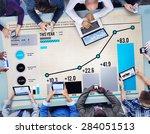statistics data analysis... | Shutterstock . vector #284051513