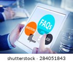 faqs frequently asked questions ... | Shutterstock . vector #284051843
