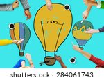hot air balloon bulb ideas... | Shutterstock . vector #284061743