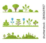 illustration collection set... | Shutterstock . vector #284065907