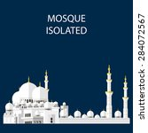 mosque isolated. muslim home.... | Shutterstock .eps vector #284072567