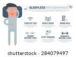 sleepless man infographics ... | Shutterstock .eps vector #284079497