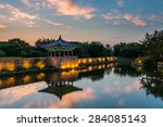 the pavilions of anapji pond... | Shutterstock . vector #284085143