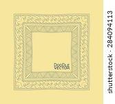 hand drawn doodle border frames.... | Shutterstock .eps vector #284094113