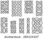 celtic style patterns  hand...   Shutterstock .eps vector #284124107