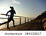 healthy lifestyle sports woman... | Shutterstock . vector #284133017