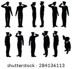 vector image   army general... | Shutterstock .eps vector #284136113