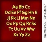 retro lightbulb alphabet... | Shutterstock .eps vector #284168807
