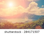 lake and volcano view  | Shutterstock . vector #284171507