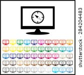 set of colored icons. compass . ...