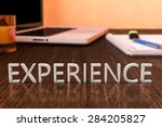 experience   letters on wooden... | Shutterstock . vector #284205827