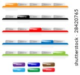 set of vector aqua web 2.0 site ... | Shutterstock .eps vector #28420765