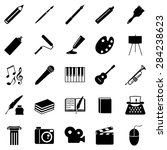 vector set of black art icons....   Shutterstock .eps vector #284238623