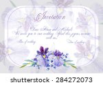 invitation  greeting card with...   Shutterstock .eps vector #284272073
