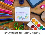 stationery objects. office and...   Shutterstock . vector #284275043