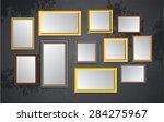 dark bronze gold brown frames... | Shutterstock .eps vector #284275967