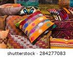 oriental cushions  | Shutterstock . vector #284277083