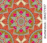seamless pattern. vintage... | Shutterstock .eps vector #284277557
