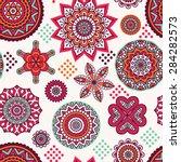 seamless pattern. vintage... | Shutterstock .eps vector #284282573
