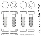 Hexagonal Bolt And Nuts In...