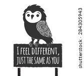 vector hand drawn typography... | Shutterstock .eps vector #284305943