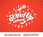 stand up comedy. | Shutterstock .eps vector #284310593