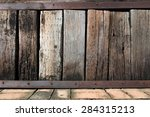 Background Of Old Wood Sleeper...