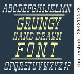 hand drawn grungy italic vector ... | Shutterstock .eps vector #284315573