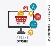 shopping design over white... | Shutterstock .eps vector #284317973