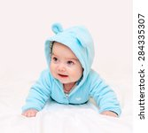Little Baby In Turquoise...