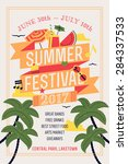 beautiful summer festival web... | Shutterstock .eps vector #284337533