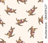 animal kangaroo doing sports... | Shutterstock . vector #284359127