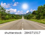 road in forest | Shutterstock . vector #284371517