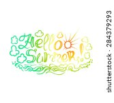 the inscription on hand drawn... | Shutterstock .eps vector #284379293