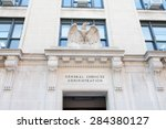 Small photo of WASHINGTON, DC - MAY 4: Entrance to the General Services Administration (GSA) in Washington, DC on May 4, 2015. GSA is responsible to oversee the business of the U.S. federal government.