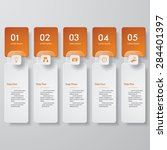 design clean number banners... | Shutterstock .eps vector #284401397