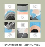 creative trendy cards. abstract ... | Shutterstock .eps vector #284407487