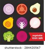 vegetable icon set | Shutterstock .eps vector #284420567