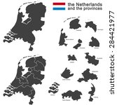 Silhouette Of The Netherlands...
