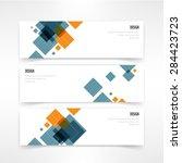 header set of three banner... | Shutterstock .eps vector #284423723