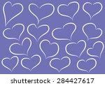 vector heart shapes | Shutterstock .eps vector #284427617