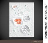 vector brochure  flyer  cover...   Shutterstock .eps vector #284428607