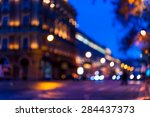 the bright lights of the... | Shutterstock . vector #284437373