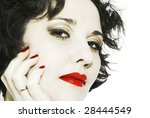 desaturation close up woman... | Shutterstock . vector #28444549