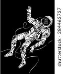 space concept with astronaut... | Shutterstock .eps vector #284463737
